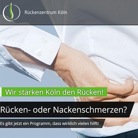 Erstellung der Webseite – Rückenzentrum Köln