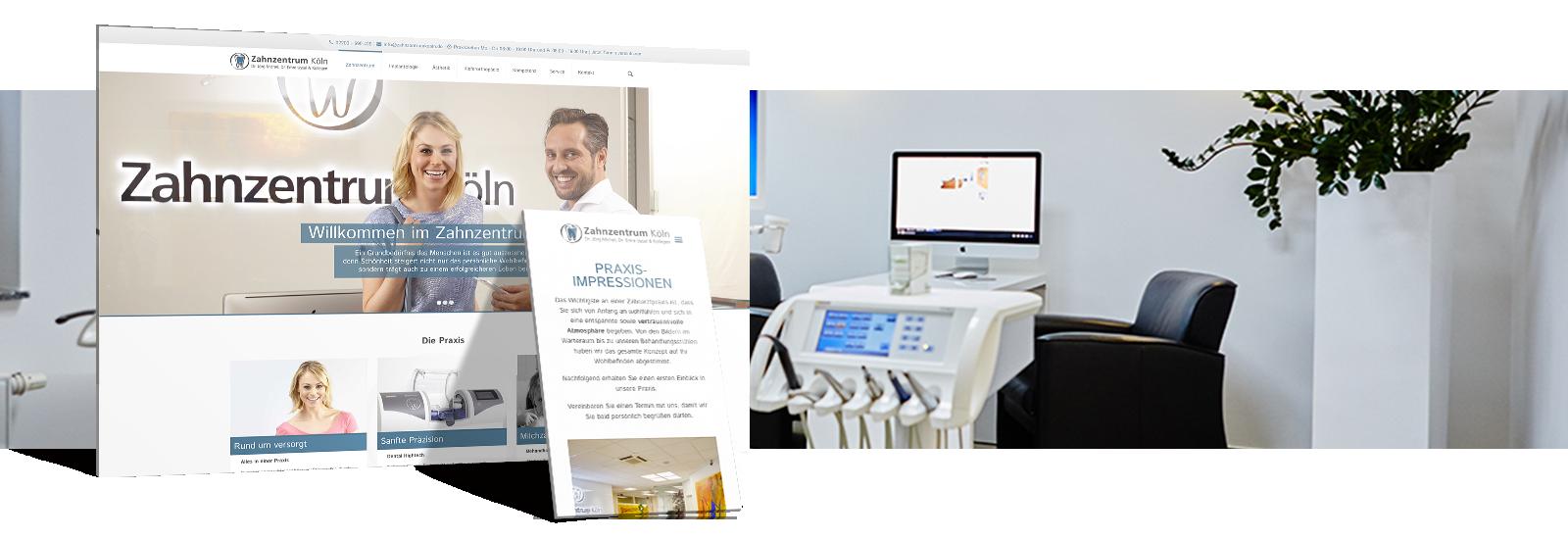 webdesign.koeln Referenz - Zahnzentrum Köln
