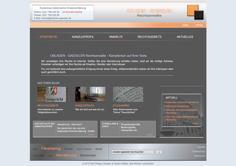 Webseite Referenz 1 - Vorher