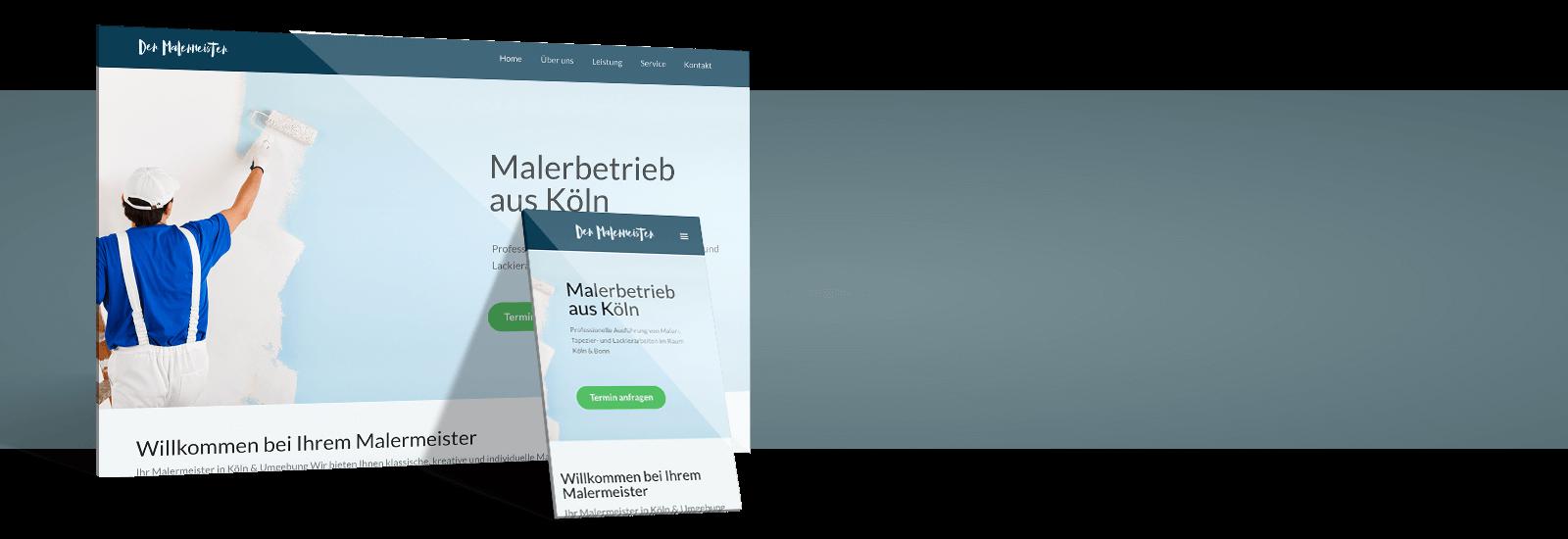 Professionelle Maler Website