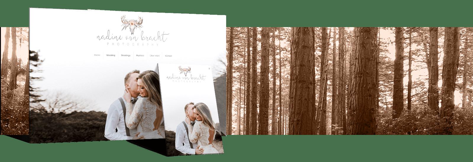 Fotografen Website von Nadine von Bracht - Referenz webdesign.koeln