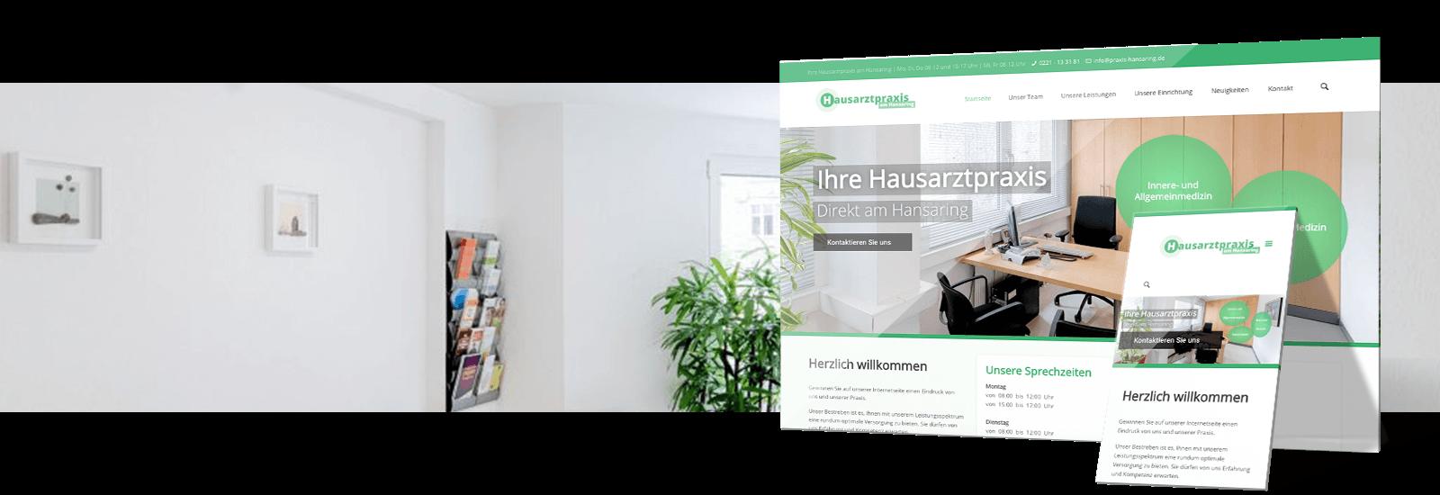 praxis homepage - referenz webdesign.koeln - praxis hansaring