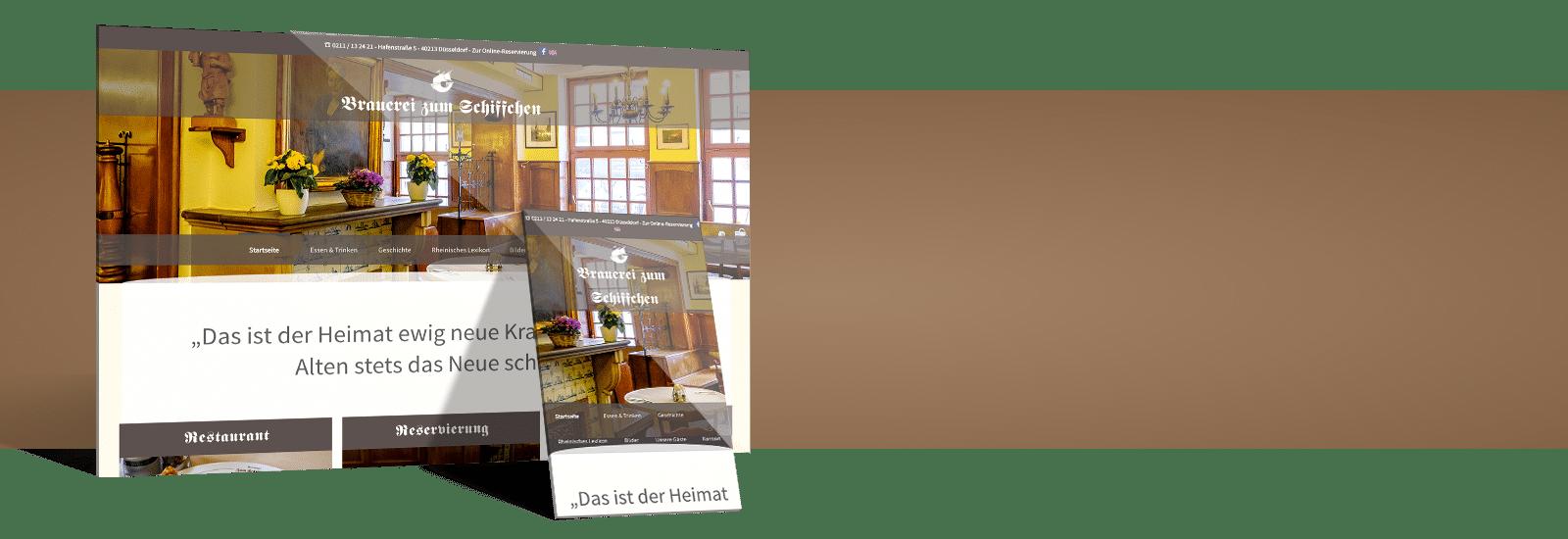 restaurant website erstellen - bild von referenz restaurant braurei zum schiffchen