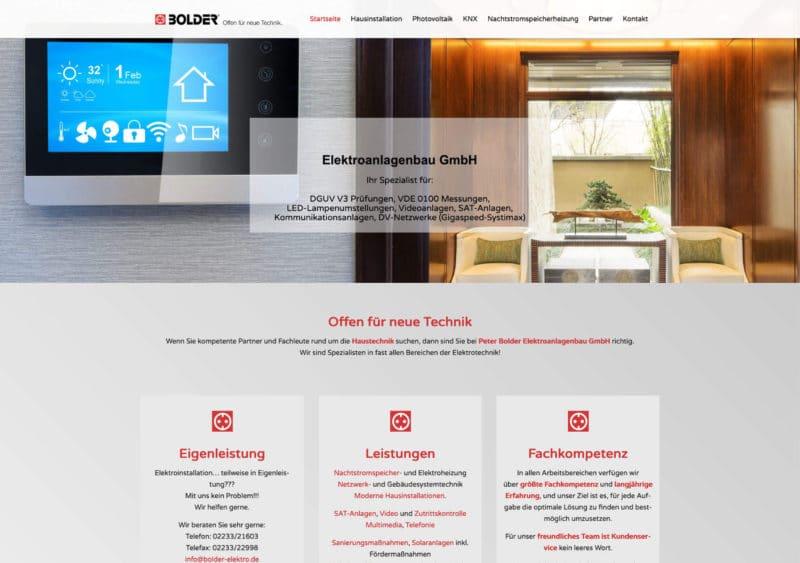 Bolder Nachher Webseite Referenz - Webdesign Koeln