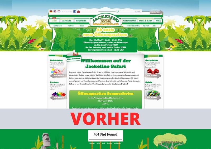 Jackelino - Nachher - Webseite Referenz - Webdesign Koeln