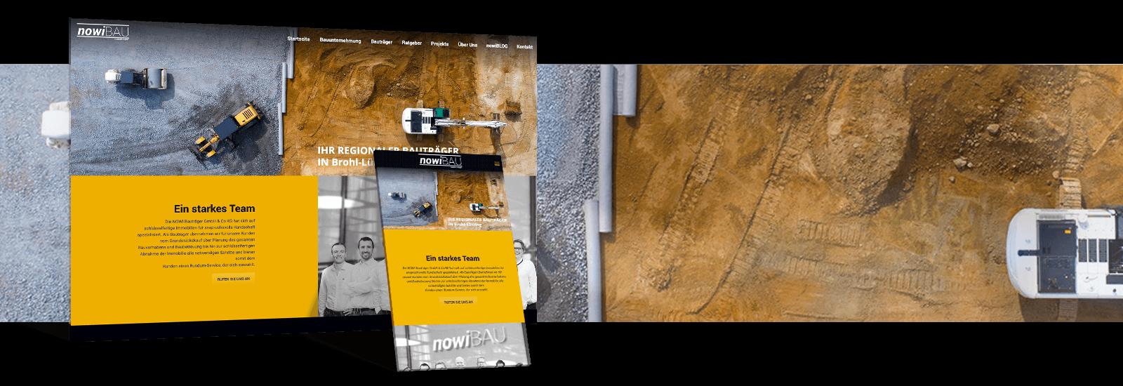 Nowibau Webseite Referenz - Webdesign Koeln