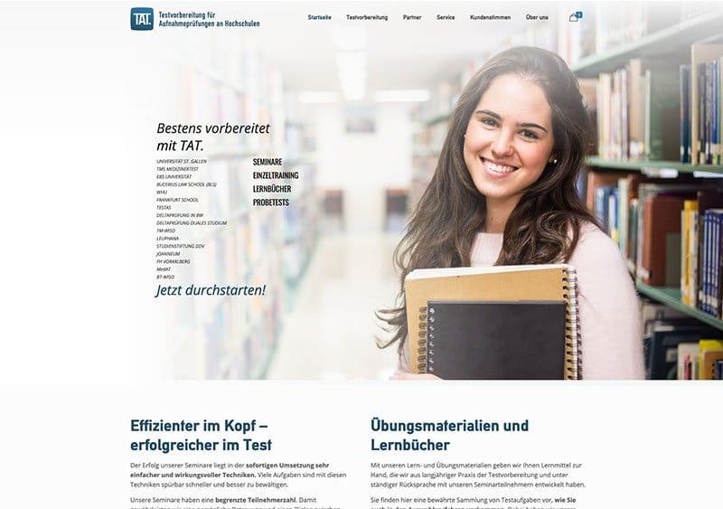 TAT Webseite Referenz - Webdesign Koeln