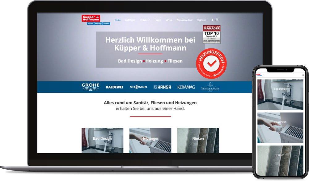 Küpper und Hoffmann Webseite Referenz - Webdesign Koeln